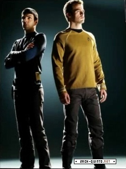 Chris & Zach as the new Kirk & Spock