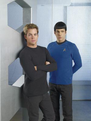 Chris & Zach as the new Kirk & Spock
