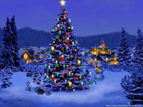 Natale Tree,Wallpaper