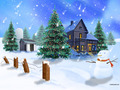 Build A Snowman - christmas wallpaper
