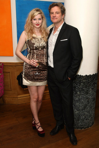 Colin Firth and Rachel Hurd-Wood at Dorian Gray After Party in London