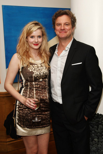 Colin Firth and Rachel Hurd-Wood at Dorian Gray After Party in Londres