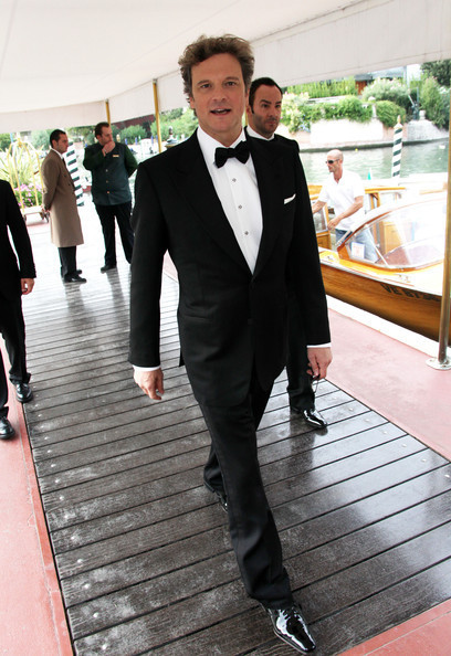 Colin Firth arriving at 66th Venice Film Festival