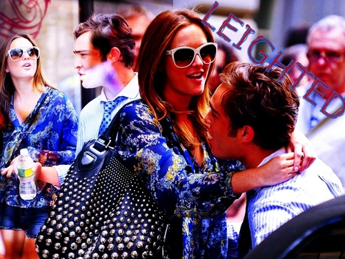 Ed and Leighton on set ( season3 of GG)