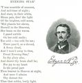Edgar Allen Poe's Poem - writing photo