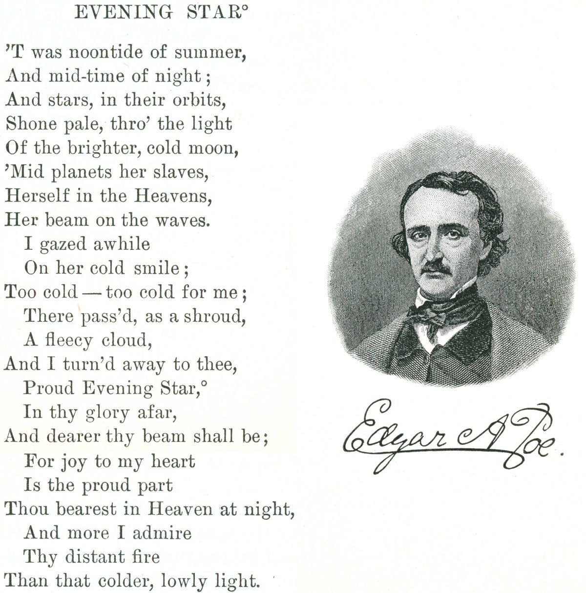Edgar Allan Poe Evening Star