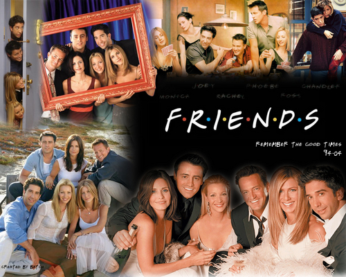 Friends wallpaper probably containing a hot tub called Friends Commemorative Wallpaper