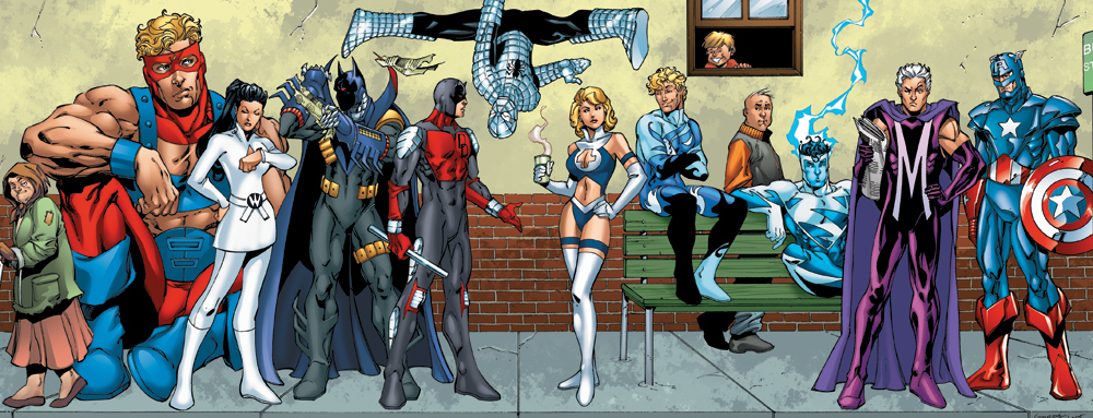 Marvel comics vs dc comics funny art