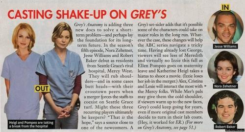 Grey's Anatomy- Season 6 *Spoilers* magazine scan