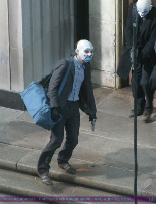 Heath, behind scenes - the-dark-knight Photo