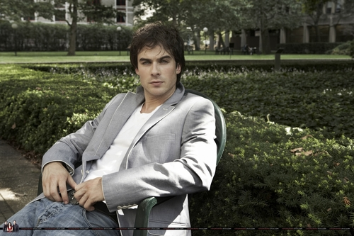 The Vampire Diaries پیپر وال with a business suit titled Ian Somerhalder - 2009 Self Assignment