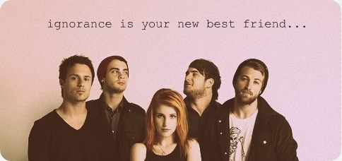 Brand New Eyes wallpaper with a portrait entitled Ignorance Is Your New Best Friend