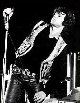 Jim Morrison performing
