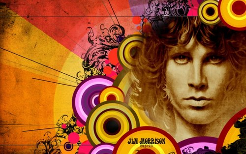 The Doors wallpaper with Anime entitled Jim Morrison