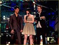 Kristen Stewart, Robert Pattinson, and Taylor Lautner at the VMAs 2009 - twilight-series photo