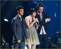 Kristen Stewart, Robert Pattinson, and Taylor Lautner at the VMAs 2009 - twilight-series photo