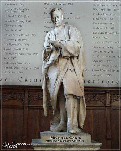Michael Caine Statue Fan Art