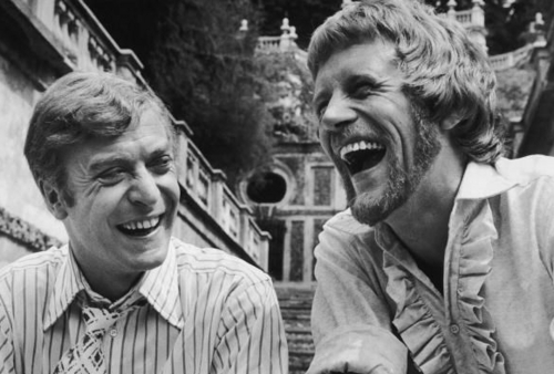 Michael Caine and Peter Collinson