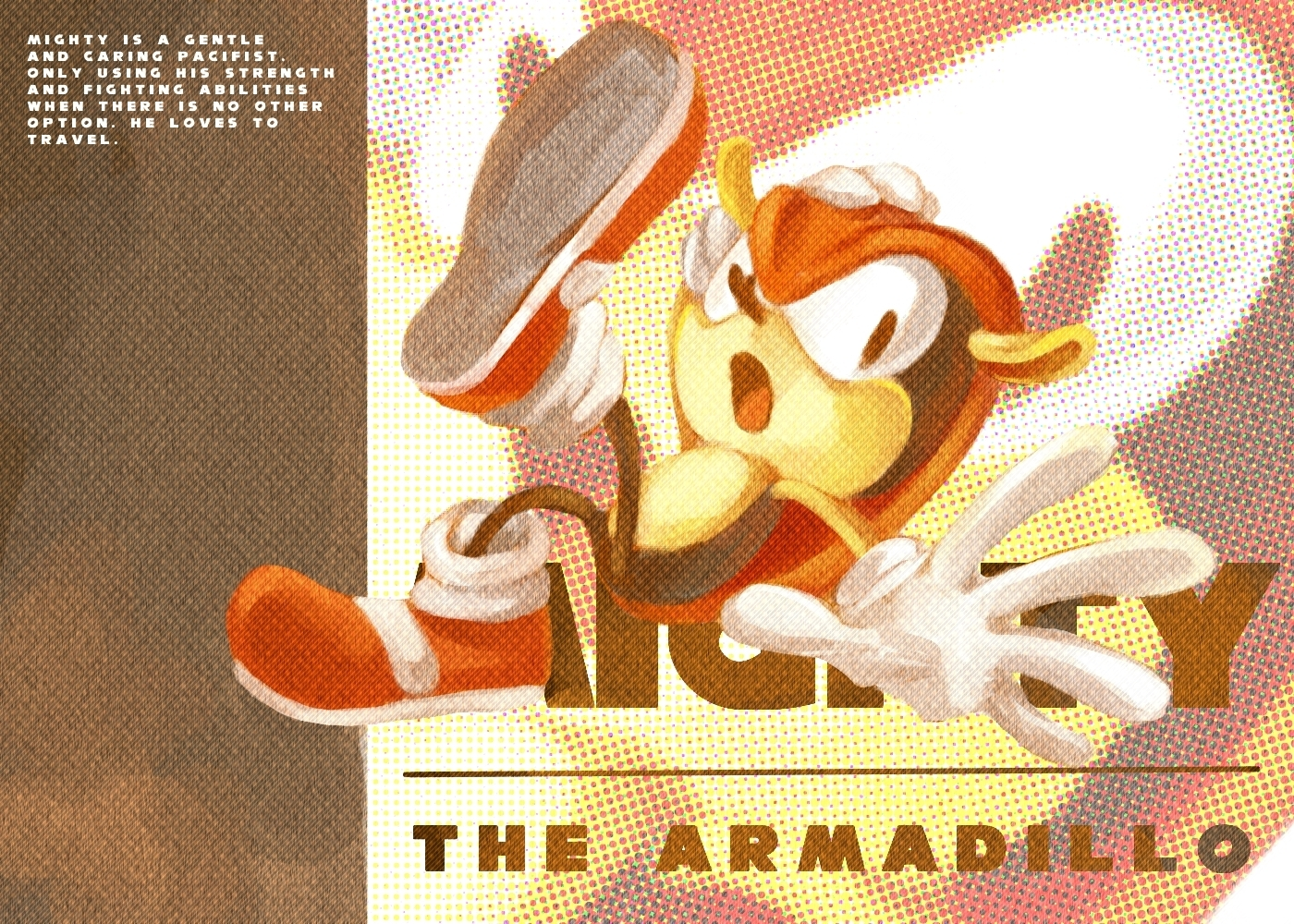Mighty the armadillo wallpaper
