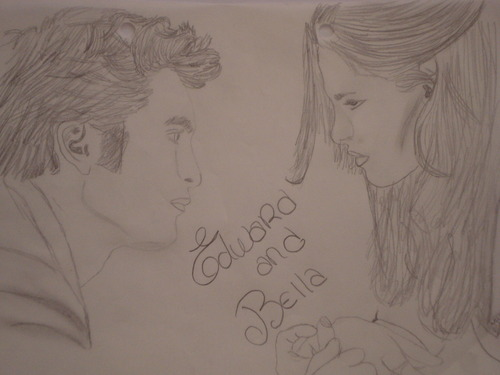 My drawing Edward and Bella New Moon