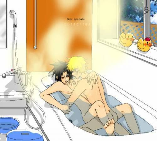 yaoi fondo de pantalla possibly with a shower, a bathroom, and a living room titled Narusasu