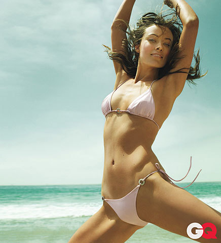 Olivia Wilde wallpaper with a bikini entitled Olivia Wilde in GQ Magazine (October 2009)