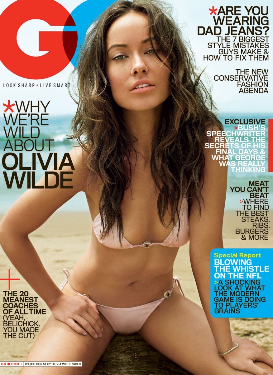Olivia on the Cover of the October 2009 GQ Photoshoot (High Quality)