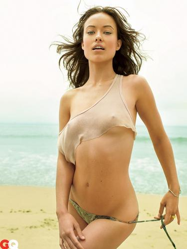 olivia wilde wallpaper probably containing a bikini entitled Olivia in the October 2009 GQ Photoshoot (High Quality)