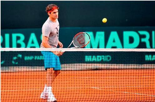 Roger Federer - Davis Cup 2009 Practice