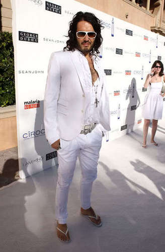 Russell Arriving @ the White Party on July 4,2009