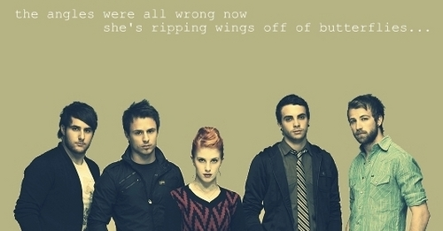 Brand New Eyes wallpaper containing a well dressed person titled She's Ripping Wings Off of Butterflies