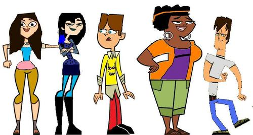 Total Drama Island wallpaper possibly containing anime entitled Some TDI characters as the characters of Glee!
