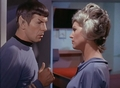 Spock and Christine in ''The naked time''