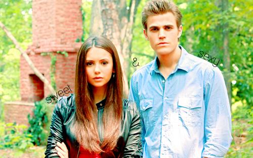 Stefan/Elena wallpaper