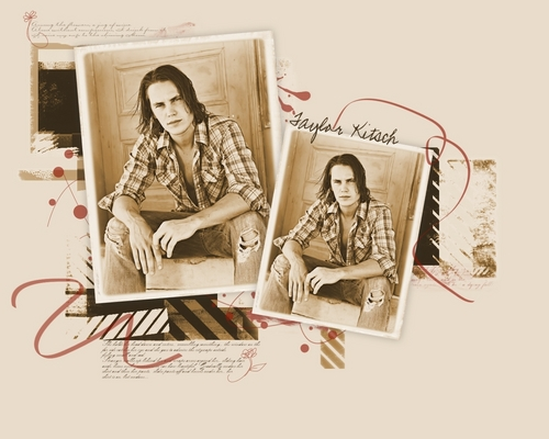 Taylor Kitsch wallpaper with a newspaper entitled Taylor Kitsch <3
