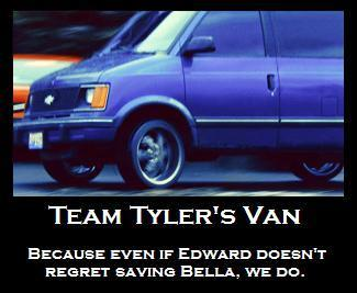 Team Tyler's busje, van