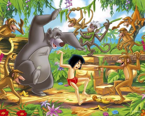 Disney karatasi la kupamba ukuta called The Jungle Book