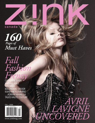 avril on Zink Magazine's cover