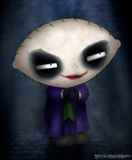 Stewie Griffin fond d'écran called dark knight