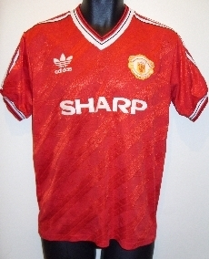 manchester United 1986 Football overhemd, shirt