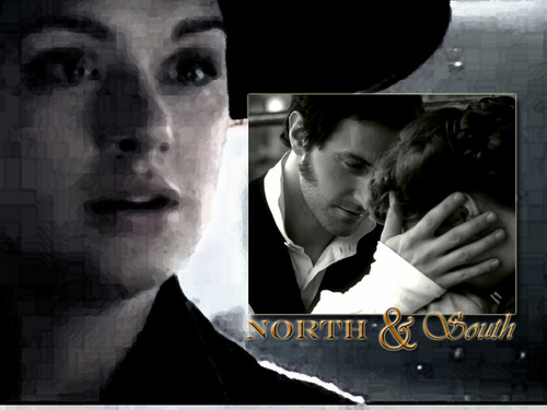 North and South wallpaper with a fedora and a boater titled First impressions can be deceiving