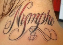 nympho tattoo