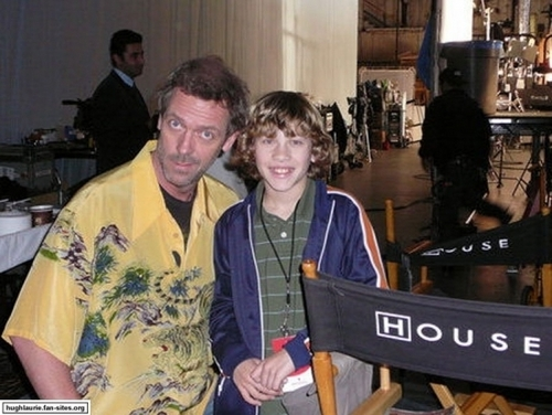 Hugh Laurie wallpaper possibly with a brasserie and a sign titled on the set with invited actors