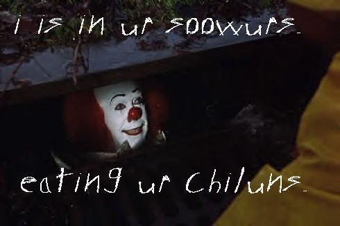 Pennywise the clown is stuck