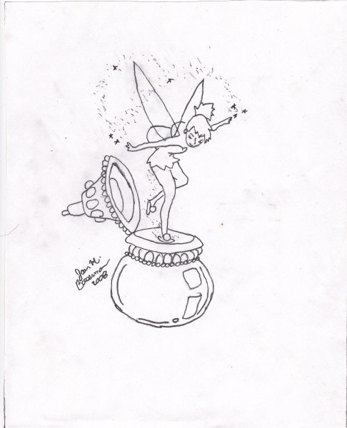 pixie dust signed graphite drawing
