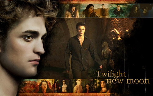 "Robert Pattinson wallpaper possibly with anime titled ""New Moon"""
