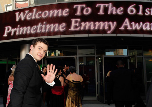 Arriving at the 61st annual emmy awards