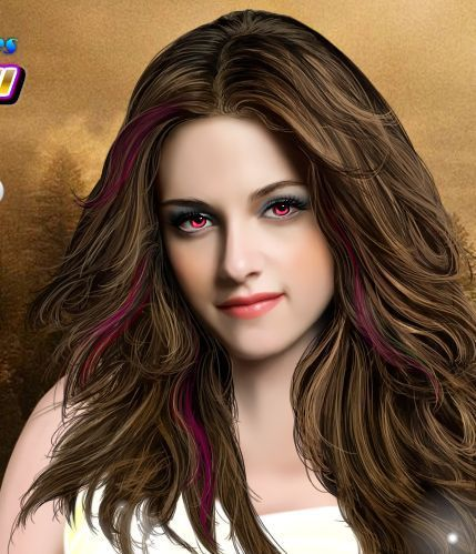 Bella as a vampire... :)