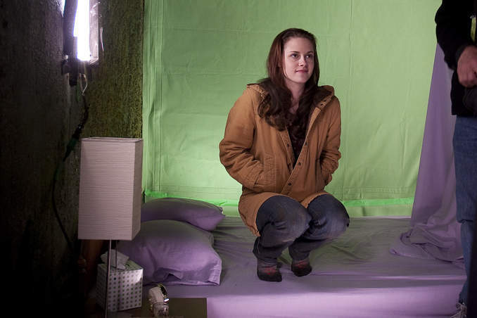 Bella on the Bed New Moon Backstage