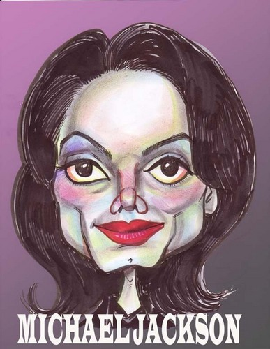 Caricature of Michael Jackson